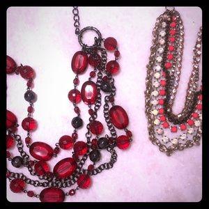 Loft statement necklace bundle of 2